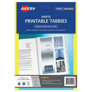 photo relating to Printable Tabs referred to as Tabs Avery Printable Tabbies White Pkt-48
