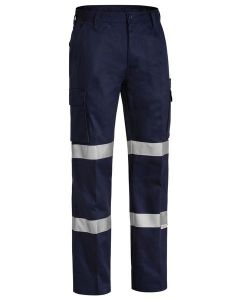 Trouser - Bisley Cotton Drill 310gsm Pleat Front c/w Double Tape Navy