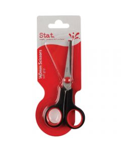STAT SCISSORS SOFT GRIP BLACK,/Red 140mm
