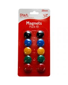 STAT MAGNETS,20mm Assorted,Pack of 10