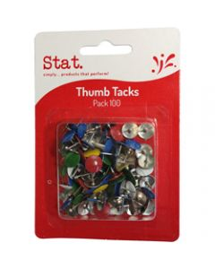 STAT THUMB TACKS,Assorted Pack of 100