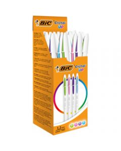 BIC Cristal Up Ballpoint Pen,Fashion Pack of 20