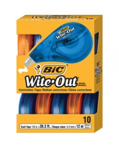 BIC WITE-OUT CORRECTION TAPE,EZ,Pack of 10