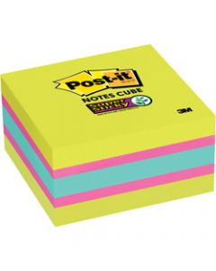Post it Super Sticky Note,2027-SSGFA 76mm x 76mm,360 Sheets Cube Brights