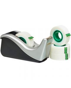 Scotch Tape Dispenser,C60-ST4 Desktop Value Pack,Black & Silver