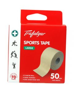 TRAFALGAR SPORTS TAPE,Large,50mm x 15m