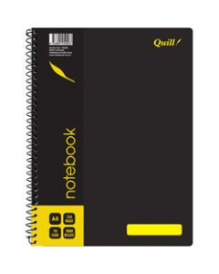Quill Notebook,70gsm PP A4,Black 120 Pages