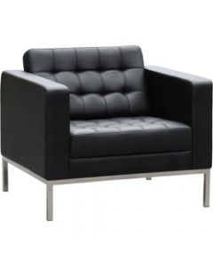 COMO LOUNGE,W 880 x H 750 x D 770mm,Black Leather