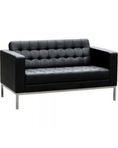COMO LOUNGE,W 1380 x H 750 x D 770mm,Black Leather