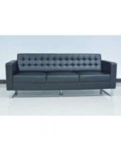 CHESTER LOUNGE,Three Seater,Black