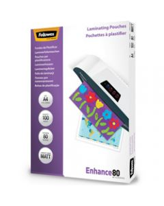 FELLOWES IMAGELAST,Laminating Pouch A4 80 Micron,Matte Pack of 100