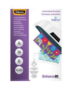 FELLOWES IMAGELAST,Laminating Pouch A3 80 Micron,Pack of 100