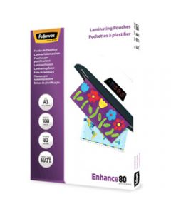 FELLOWES IMAGELAST,Laminating Pouch A3 80 Micron,Matte Pack of 100