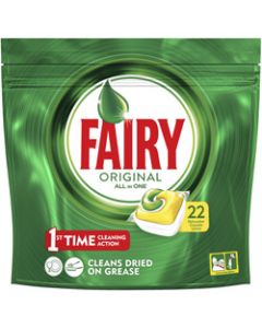 FAIRY DISHWASHER TABLETS,ALL-IN-ONE LEMON,Pack of 22