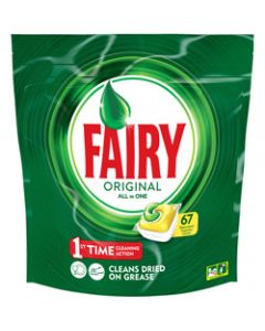FAIRY DISHWASHER TABLETS,ALL-IN-ONE LEMON,Pack of 67