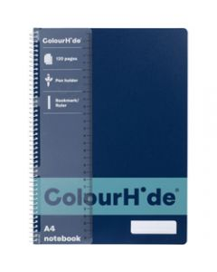 COLOURHIDE NOTEBOOK,A4 120 Page,Navy