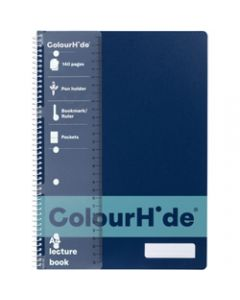 COLOURHIDE NOTEBOOK,A4 Lecture 140 Page,Navy