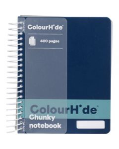 COLOURHIDE NOTEBOOK,Chunky 400 Page,Navy