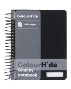 COLOURHIDE NOTEBOOK,Chunky 400 Page,Black