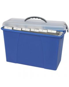 CRYSTALFILE CARRY CASE,Clear Lid Blue Base