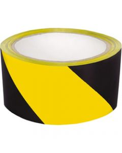 CUMBERLAND WARNING TAPE,48Mm X 45M,Black Yellow