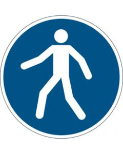 DURABLE SAFETY SIGN -,USE WALKWAY,Blue