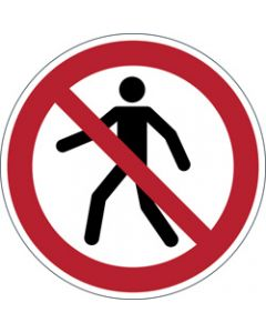 DURABLE SAFETY SIGN -,PEDESTRIANS PROHIBITED,Red