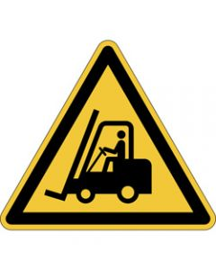 DURABLE SAFETY SIGN -,CAUTION FORKLIFTS,Yellow