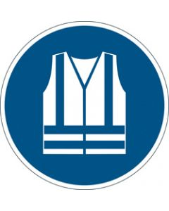 DURABLE SAFETY SIGN -,USE DURABLE SAFETY VEST,Blue