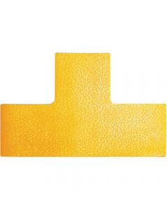 DURABLE FLOOR MARKING SHAPE -,T Yellow,Pack of 10