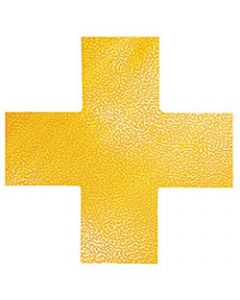 DURABLE FLOOR MARKING SHAPE -,CROSS Yellow,Pack of 10