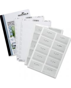 DURABLE NAME BADGE SET WITH,PIN & INSERTS 54 x 90mm,Pack of 20
