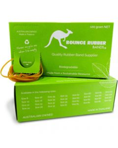 BOUNCE RUBBER BANDS®,ASSORTED SIZES,100GM BOX