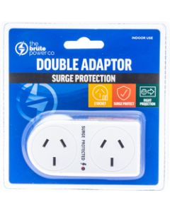 THE BRUTE POWER CO.,DOUBLE ADAPTOR - Flat Right &,Surge Protection
