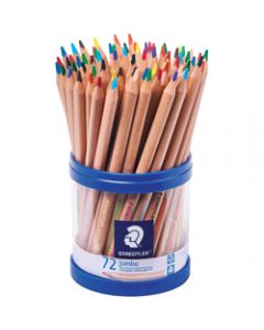 Staedtler Natural Jumbo Coloured Pencils Triangular Assorted Cup of 72