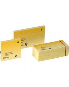 MARBIG NOTES,75mm x 125mm,Yellow 1200 Sheets Pack
