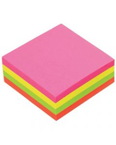 MARBIG NOTES,Brilliant 75mm x 75mm,Assorted 320 Sheets Pack