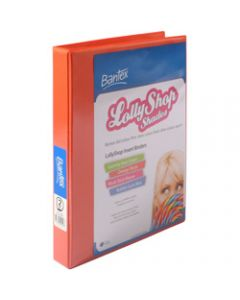 Bantex Lolly Shop Insert,Binder PVC A4 2D Ring 25mm,Orange Slices
