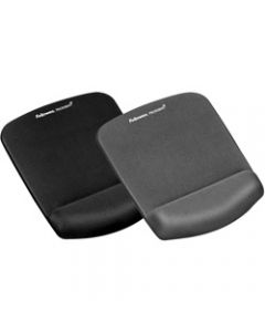 FELLOWES MOUSE PAD WRIST REST,Plush Touch Features Microban