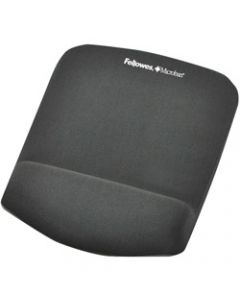 FELLOWES MOUSE PAD WRIST REST,Plush Touch Lycra,Graphite