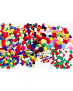 JASART POM POMS Std Assorted Pack of 150