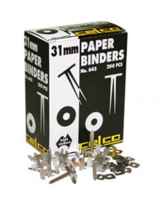 CELCO PAPER BINDERS,No. 645 - 31mm Box of 200