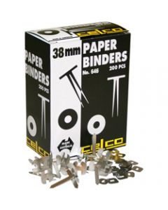 CELCO PAPER BINDERS,No. 646 - 38mm Box of 200