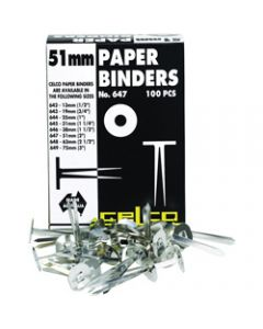 CELCO PAPER BINDERS,No. 647 - 51mm Box of 100