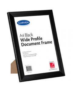 CARVEN DOCUMENT FRAME,A4 Plastic Black