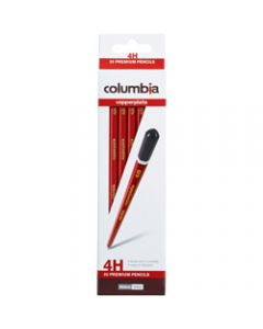 COLUMBIA COPPERPLATE PENCIL,Hexagon 4H Pack of 20