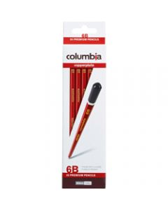 COLUMBIA COPPERPLATE PENCIL,Hexagon 6B Pack of 20