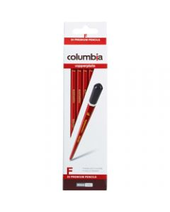 COLUMBIA COPPERPLATE PENCIL,Hexagon F Pack of 20