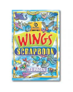 OLYMPIC SCRAP BOOK,335mm x 240mm Wings,67gsm 72 Pages - Pack 10