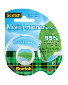 Scotch Magic Tape Dispenser,123 Greener 19mm x 15.2m,Dispenser